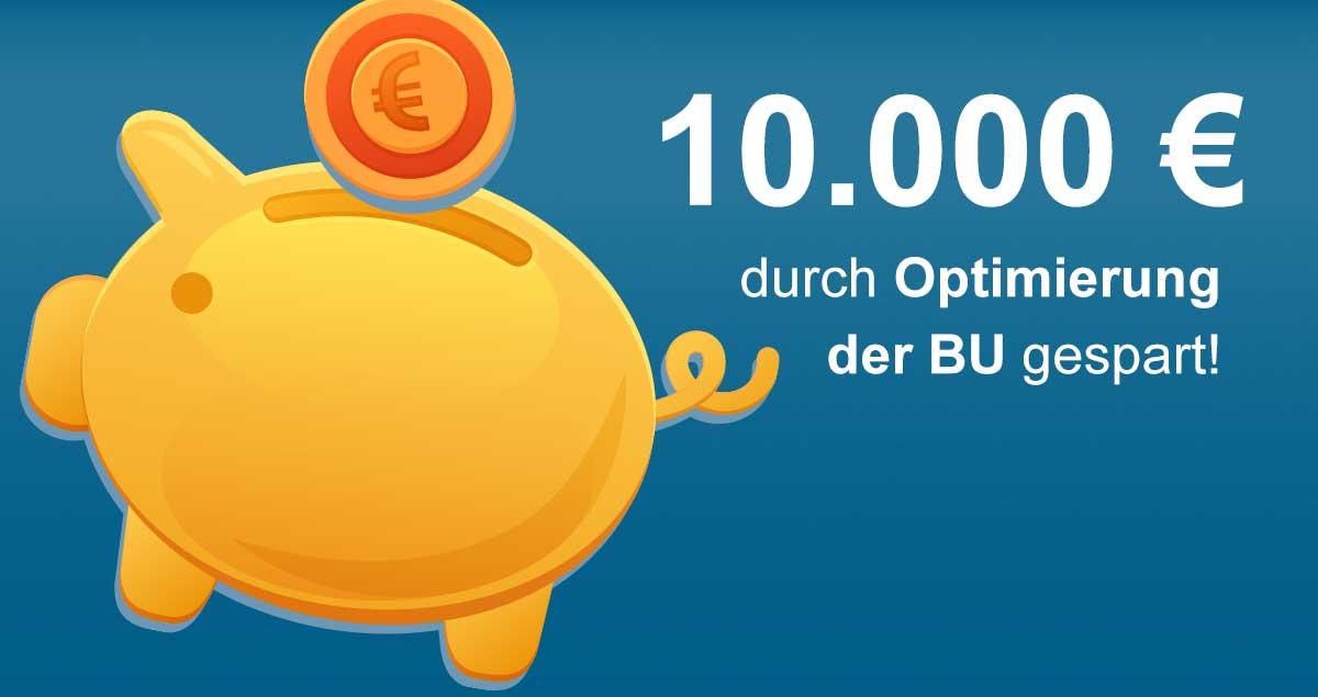 Wie ein Kunde 10.000 EURO in seiner BUV spart