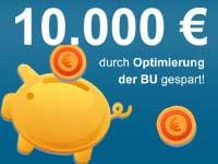 10.000 Euro im BU-Vertrag gespart