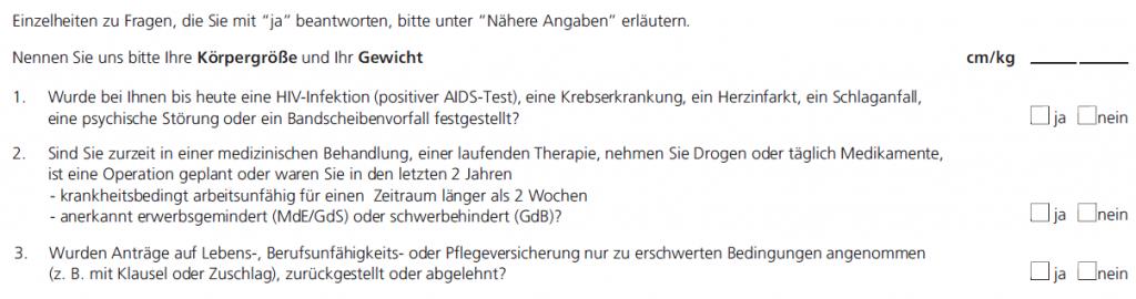 Volkswohl Bund Berufsunfähigkeitsversicherung: Aktionsfragen