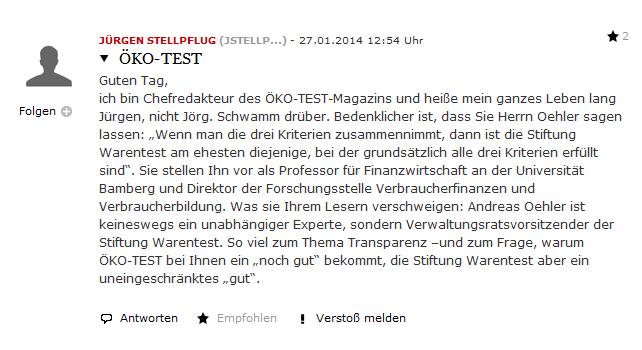 Jürgen Stellpflugs Kommentar zum Oehler Fauxpas der FAZ: Gelöscht.