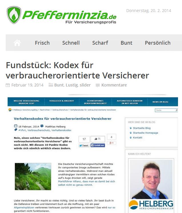"""""""Fundstück"""" auf Pfefferminzia.de"""