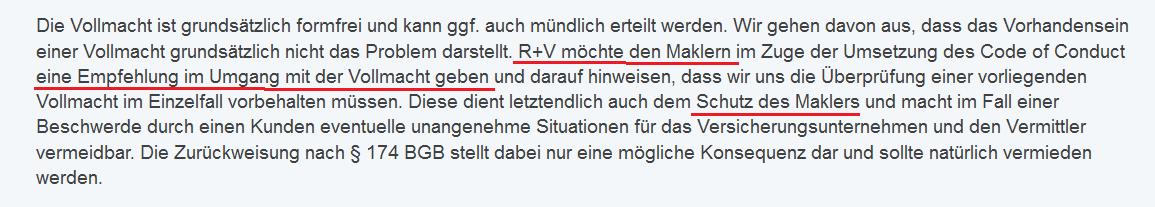 """Die R+V reitet sich weiter rein: """"Verpflichtung"""" war als """"Empfehlung"""" gemeint..."""