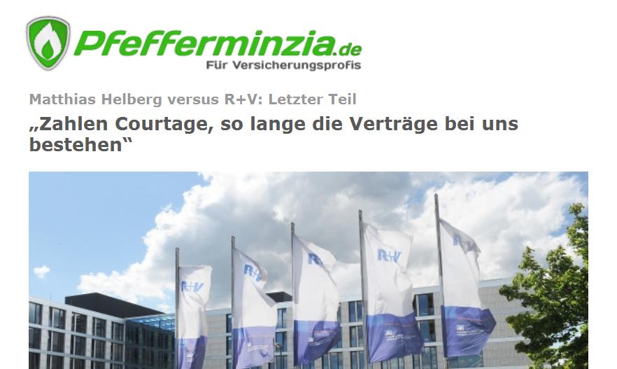 Pfefferminzia: Matthias Helberg versus R+V