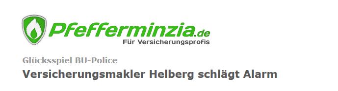 Pfefferminzia vom 17.03.2015: Helberg schlägt Alarm