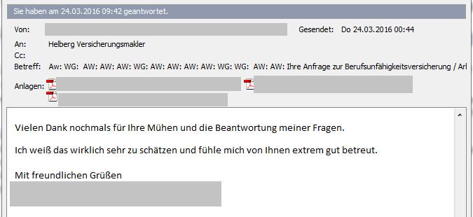 """Kundenerfahrung mit Helberg Versicherungsmakler: """"Fühle mich extrem gut betreut""""."""