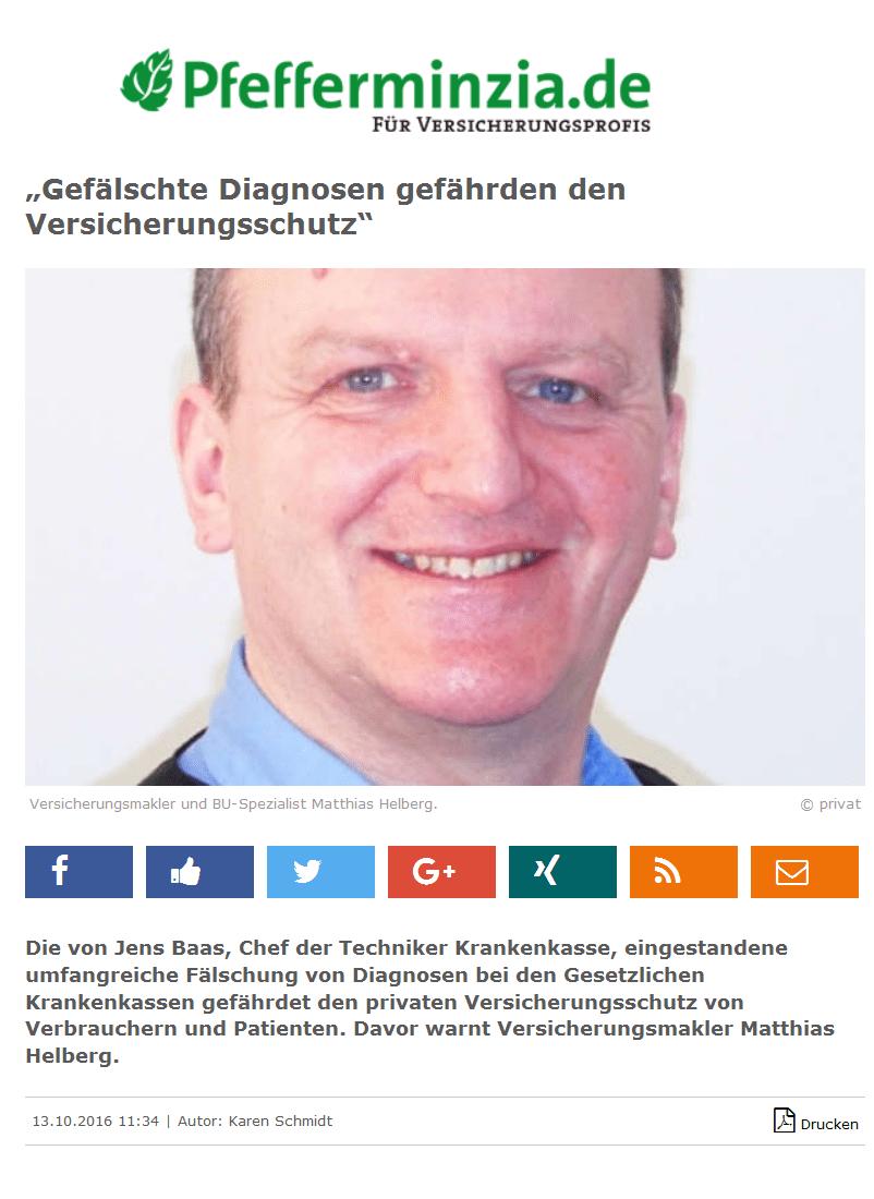 Pfefferminzia: Gefaelschte Diagnosen Quelle pfefferminiza.de