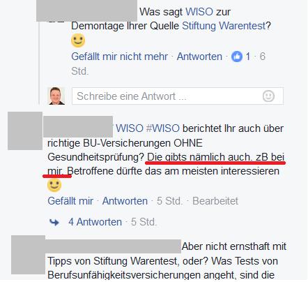Mit dieser Art von Eigenwerbung hat WISO kein Problem? Quelle: www.facebook.com/ZDFwiso