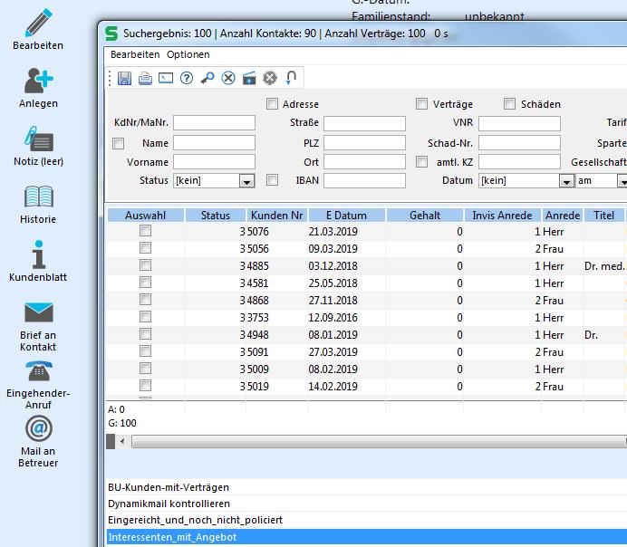 Mit einer guten Software lassen sich auch 100 BU-Anfragen parallel bearbeiten.