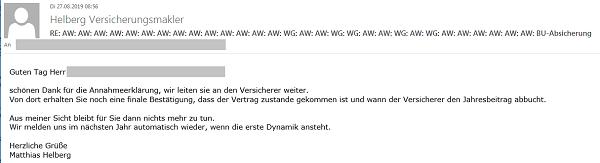 Ein etwas längerer E-Mail-Betreff RE: AW: AW: ...