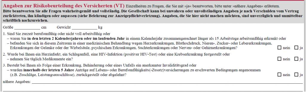 Alte Leipziger BU Aktion: Vereinfachte Gesundheitsfragen bis Ende Oktober 2013!