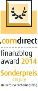 comdirect finanzblog award 2014 Sonderpreis