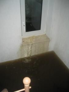 Starkregen: Wasser sucht sich seinen Weg