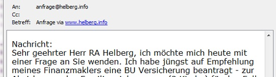 Sehr geehrter Herr RA Helberg