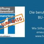 BU-Test 2015: Stiftung Warentest zeigt sich berufsunfähig