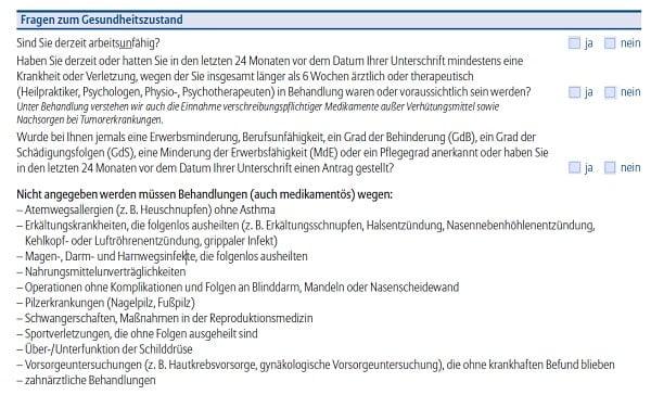 Allianz BU-Aktion Gesundheitsfragen Eigen-DO E126 Stand 07.2020