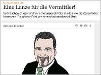 Verbraucherschützer Axel Klein: Offener Brief an Vermittler