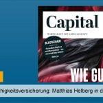 """Berufsunfähigkeitsversicherung: Matthias Helberg in der """"Capital"""""""
