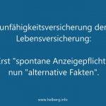 """Basler Leben: Erst """"spontane Anzeigepflicht"""", nun """"alternative Fakten"""""""