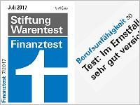 Berufsunfähigkeitsversicherung Test 2017 von Stiftung Warentest. Grafikquelle: test.de