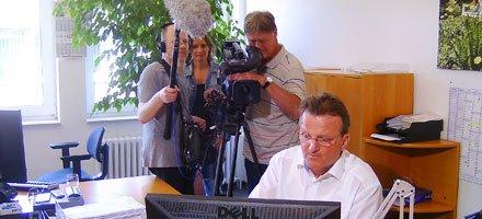 Medienecho: NDR Kamerateam bei Helberg Versicherungsmakler in Osnabrück