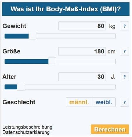 Klicken, um zum BMI-Rechner zu gelangen.