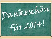 Dankeschön für 2014!