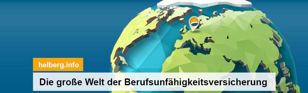 Die große Welt der Berufsunfähigkeitsversicherung. Auf www.helberg.info | FAQ | Vergleich | Anbieter | Test | Beratung