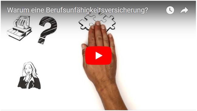 Klicken, um das Video auf Youtube anzusehen. Erklärvideo Warum eine Berufsunfähigkeitsversicherung?