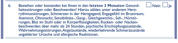 Europa Lebensversicherung Gesundheitsfrage 6