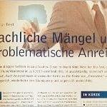 """Versicherungsmagazin: """"Fachliche Mängel und problematische Anreize"""""""
