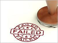 Failed: Misslungen, verfehlt. Grafikquelle: colourbox.com