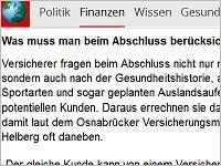 Focus Online Berufsunfähigkeitsversicherung Helberg Quelle: focus.de