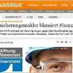 Handelsblatt online: Versicherungsmakler blamiert Finanztest