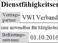 HDI VWI Dienstfaehigkeitserklaerung