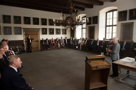 Empfang für IGVM-Mitglieder im historischen Rathaus der Stadt Osnabrück