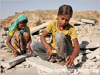 Kinderarbeit im Steinbruch, Foto: terre des hommes