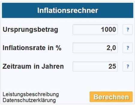 Klicken, um den Inflationsrechner zu starten.