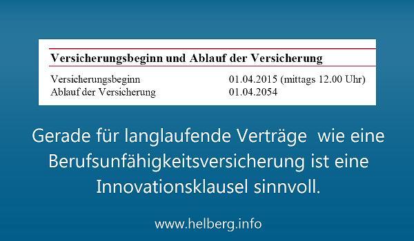 Eine Innovationsklausel in der Berufsunfähigkeitsversicherung: Sinnvoll?