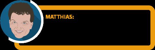 """Matthias: """"Ganz so einfach ist es leider nicht. Aber wir dröseln es für Sie auf."""""""