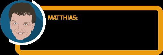 """Matthias: """" Je konkreter die Anforderungen formuliert sind, wann eine Umorganisation des Betriebes möglich sein soll, desto besser für Sie als Versicherten."""""""