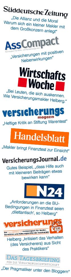 Medienecho Helberg Versicherungsmakler