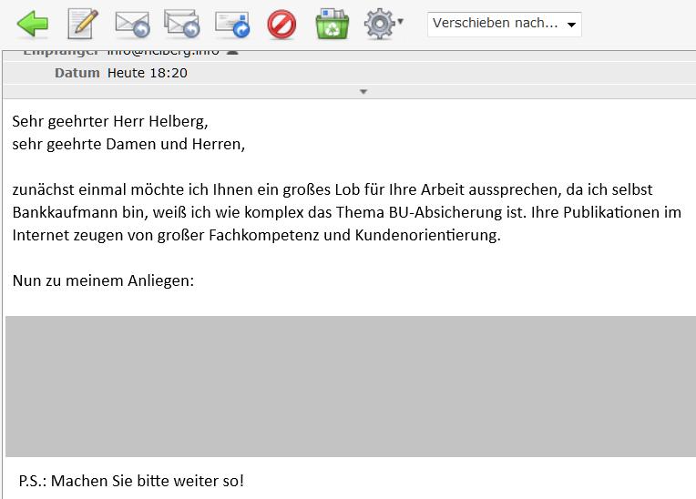 """""""Ihre Publikationen im Internet zeugen von großer Fachkompetenz und Kundenorientierung"""" - Dankeschön!"""