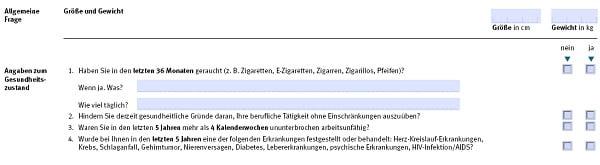 RLV-Aktion bei Immobilienfinanzierung: Gesundheitsfragen der Gothaer