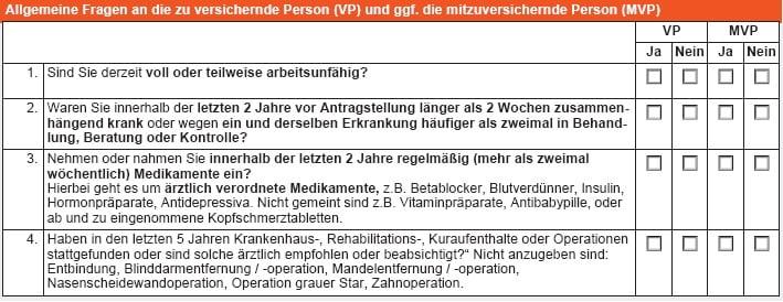 RLV-Aktion bei Immobilienfinanzierung: Gesundheitsfragen der Württembergischen