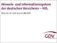 """""""Schwarze Liste"""" HIS. Grafik-Quelle: GDV"""