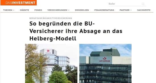 """Wartezeit-BU und die Reaktionen der Versicherer auf das """"Helberg-Modell"""""""