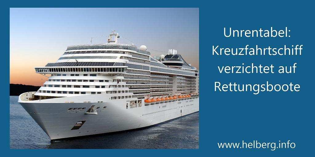 Ein Kreuzfahrtschiff - ohne Rettungsboote? colourbox.com