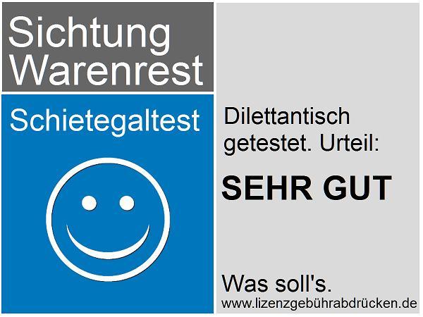 Test Logo der Sichtung Warenrest: Dilettantisch getest. Was solls.