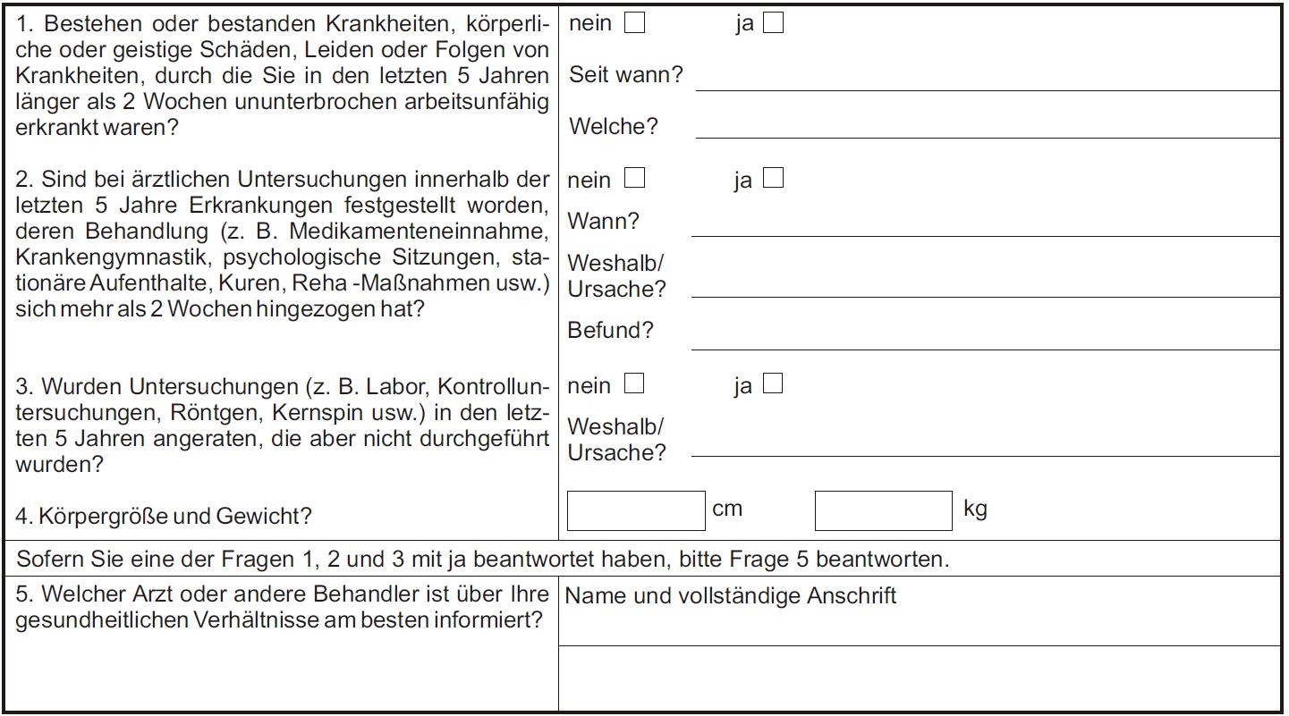 Stuttgarter Berufsunfähigkeitsversicherung mit nur 3 Fragen.