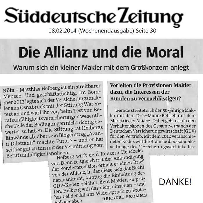 Süddeutsche Zeitung: Sein Blogeintrag 'avanti dilettanti' machte Furore